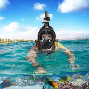 Full Face Snorkeling Mask Set Diving Mergulho