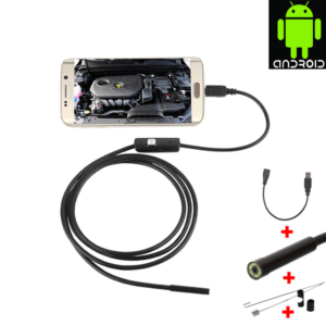 Rovtop Endoscope USB Android Endoscope Camera Waterproof Inspection Borescope Flexible Camera 7mm for Android PC Notebook