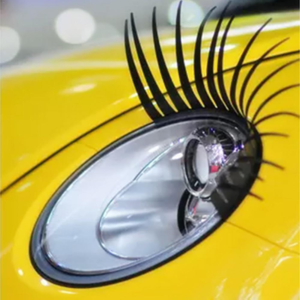 car eyelashes 3D car logo sticker 2pcs
